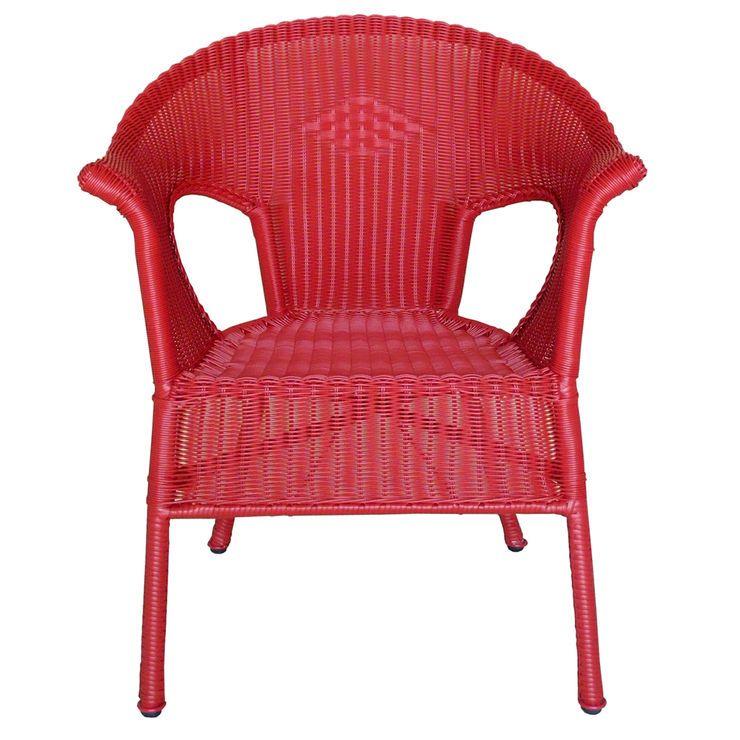 red wicker chair white wicker chair