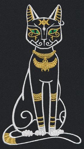 Égyptien Cat Baset Brodé Gaufre weave Hand/Dish Towel | Etsy
