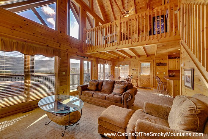 The View Is Audacious Inside And Out That S The Name Of This 2 Bedroom Cabin Outside Of Pigeon Forge Cabin Pigeon Forge Cabin Rentals Pigeon Forge