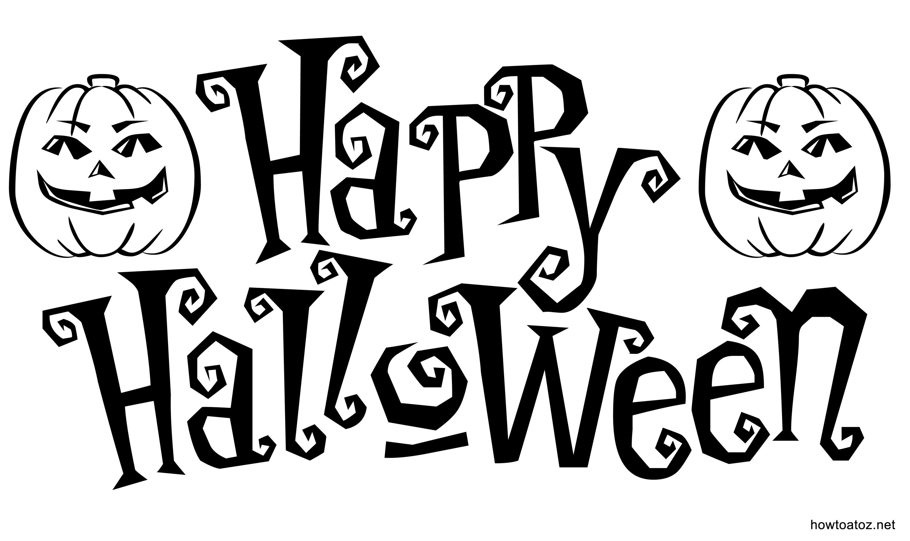 Free Halloween Decoration Stencils And Templates  How To A To Z