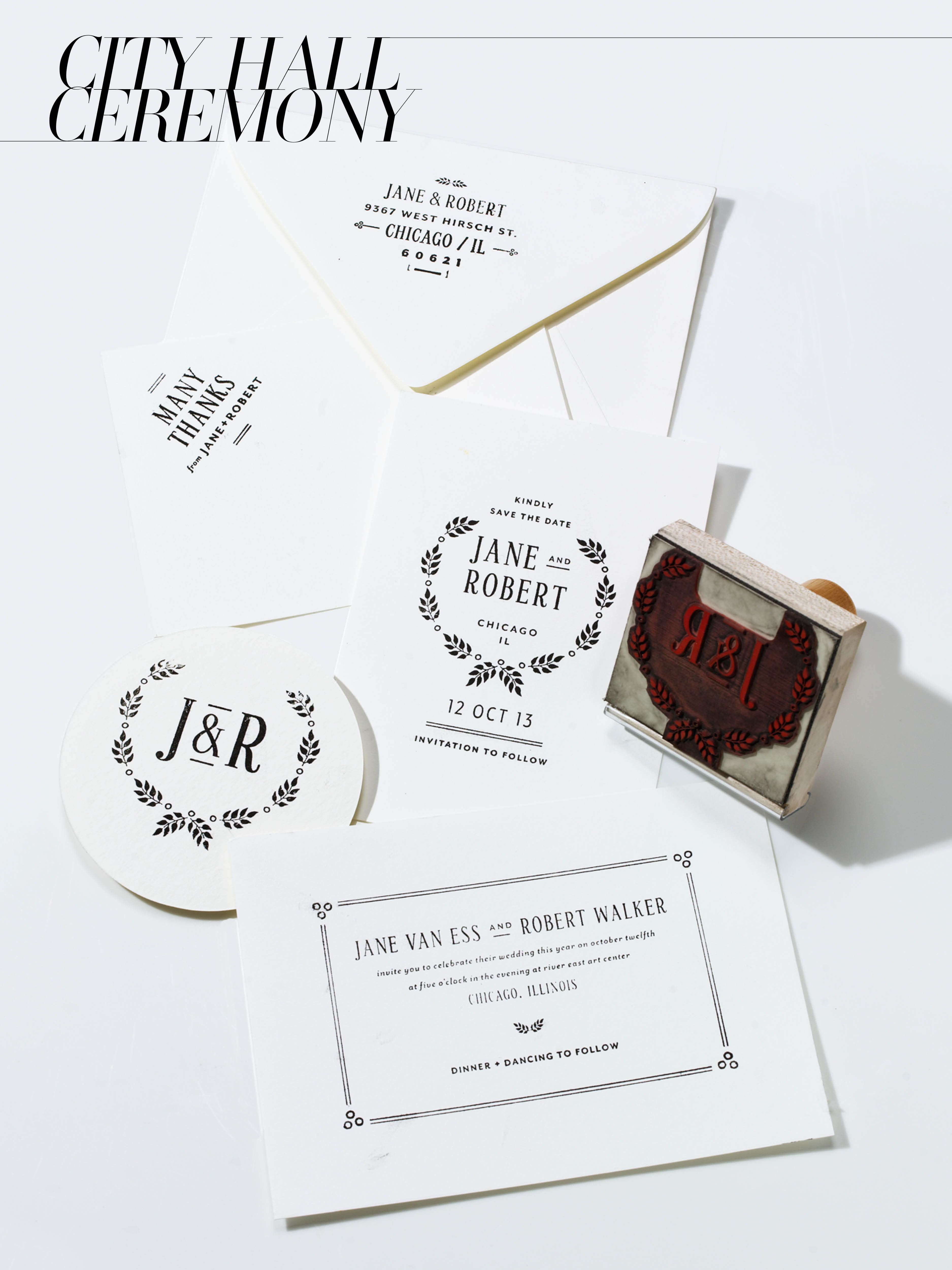 MaeMae Paperie Quimby invitation stamp set, $440For information ...