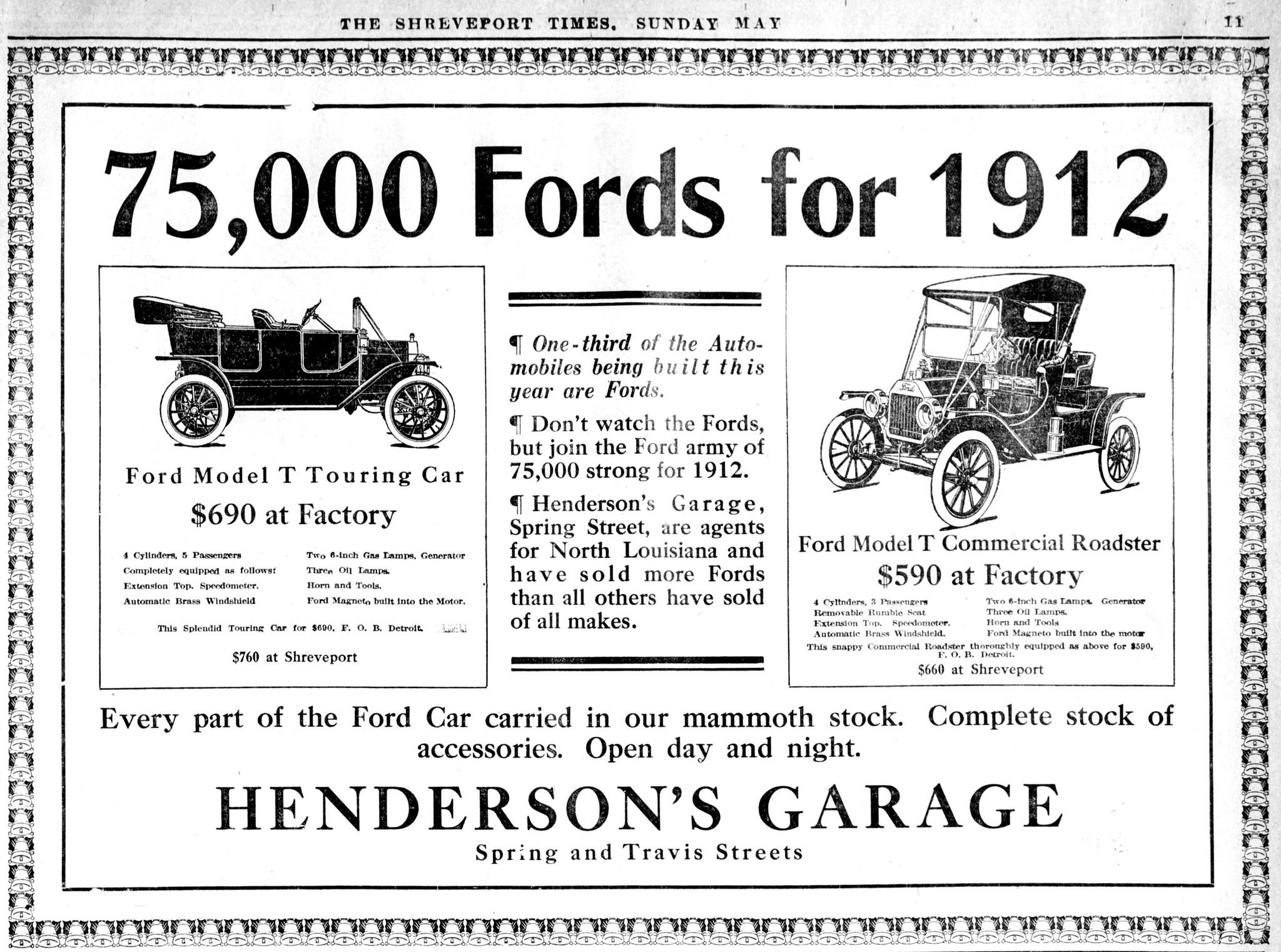 Vintage Advertising For The 1912 Ford Model T Automobile In The