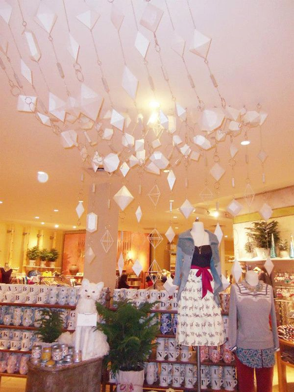 My visual display internship at Anthropologie at Somerset Mall from  September to December, 2012