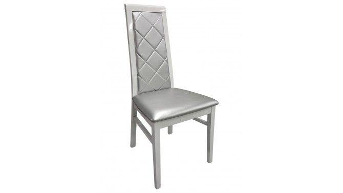 Chaise Baroque En Similicuir Matelasse Gris Trenton Gdegdesign Salle A Manger Baroque Chaise Design Chaises Bois