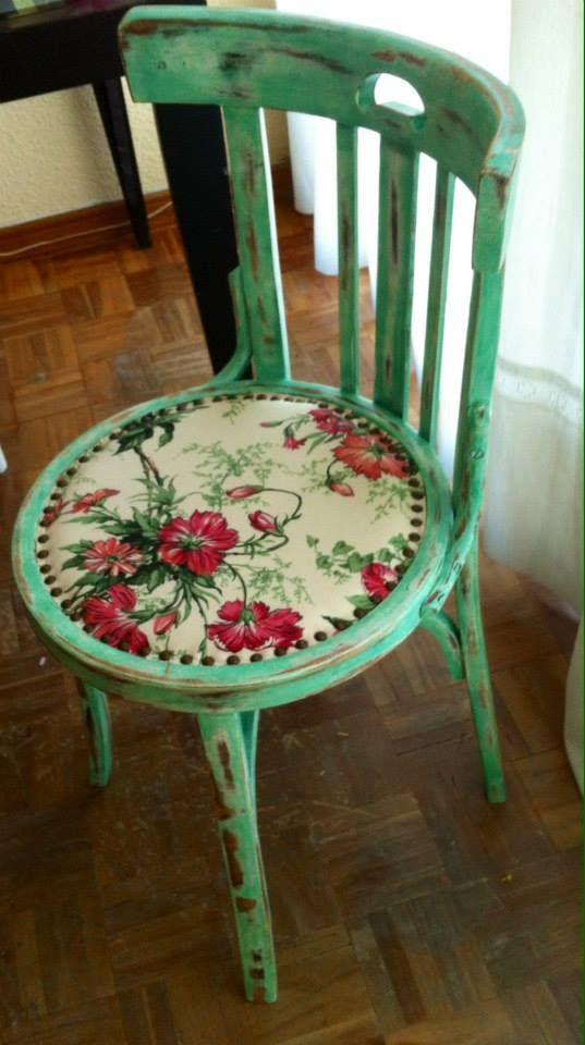Una antigua silla de bar recuperada. #silla #recuperada #decoración ...