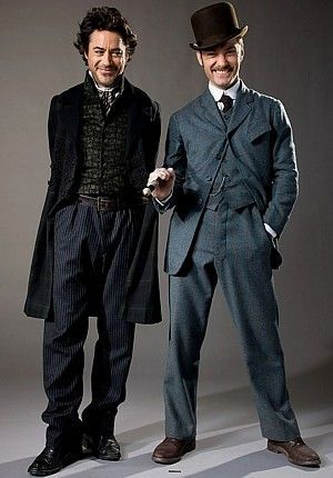 Sherlock Holmes \ John Watson (Robert Downey Jr \ Jude Law - dr watson i presume