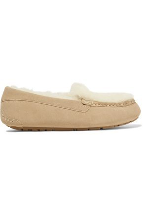 AUSTRALIA LUXE COLLECTIVE WOMAN PIQUET SHEARLING SLIPPERS BEIGE. #australialuxecollective #shoes #