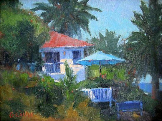 "Brockton Villa, La Jolla by Catherine Grawin Oil ~ 9"" x 12"""