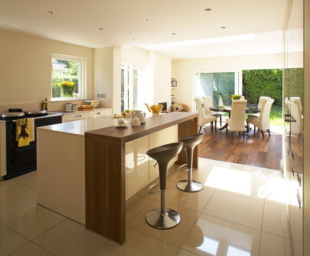 Image result for light countertops wood breakfast bar | NTG kitchen ...