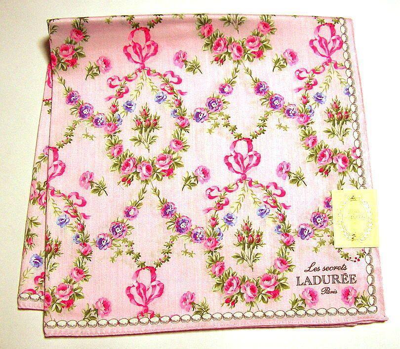 Handkerchief Paques Pink Laduree Japan