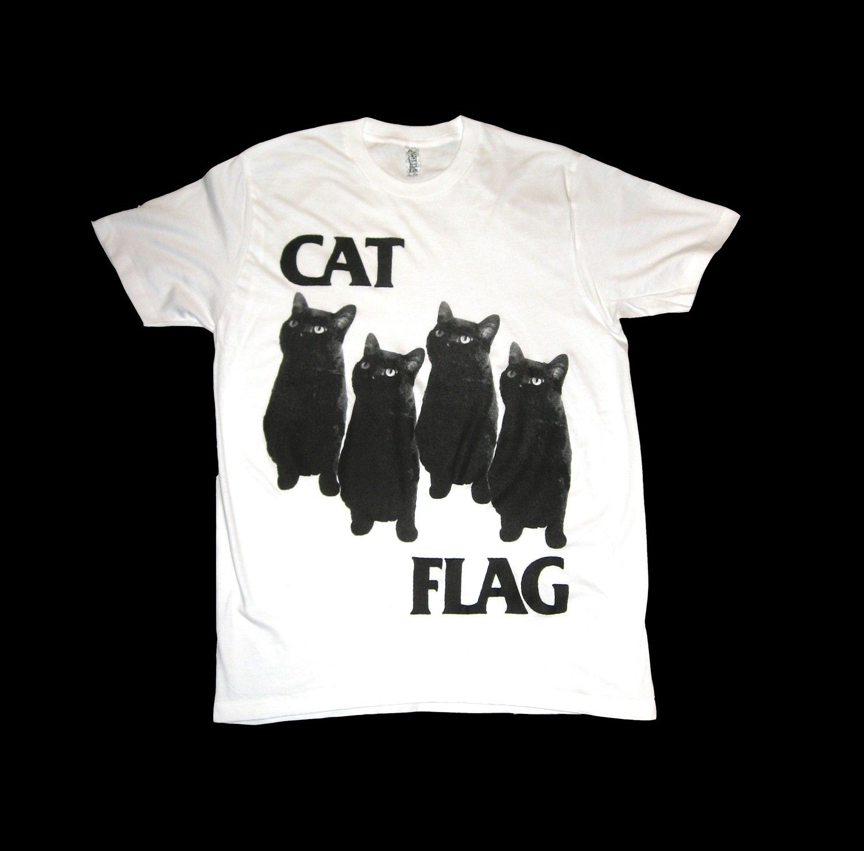Black flag t shirt uk - Black Flag Cat Flag T Shirt Size Small By Sleazyseagull On Etsy 23 99 Via