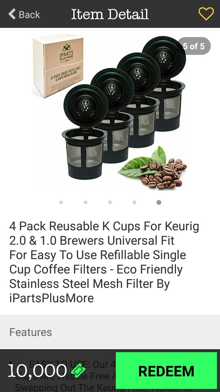 Idea by Kaley on Very Dice Prizes Reusable k cup