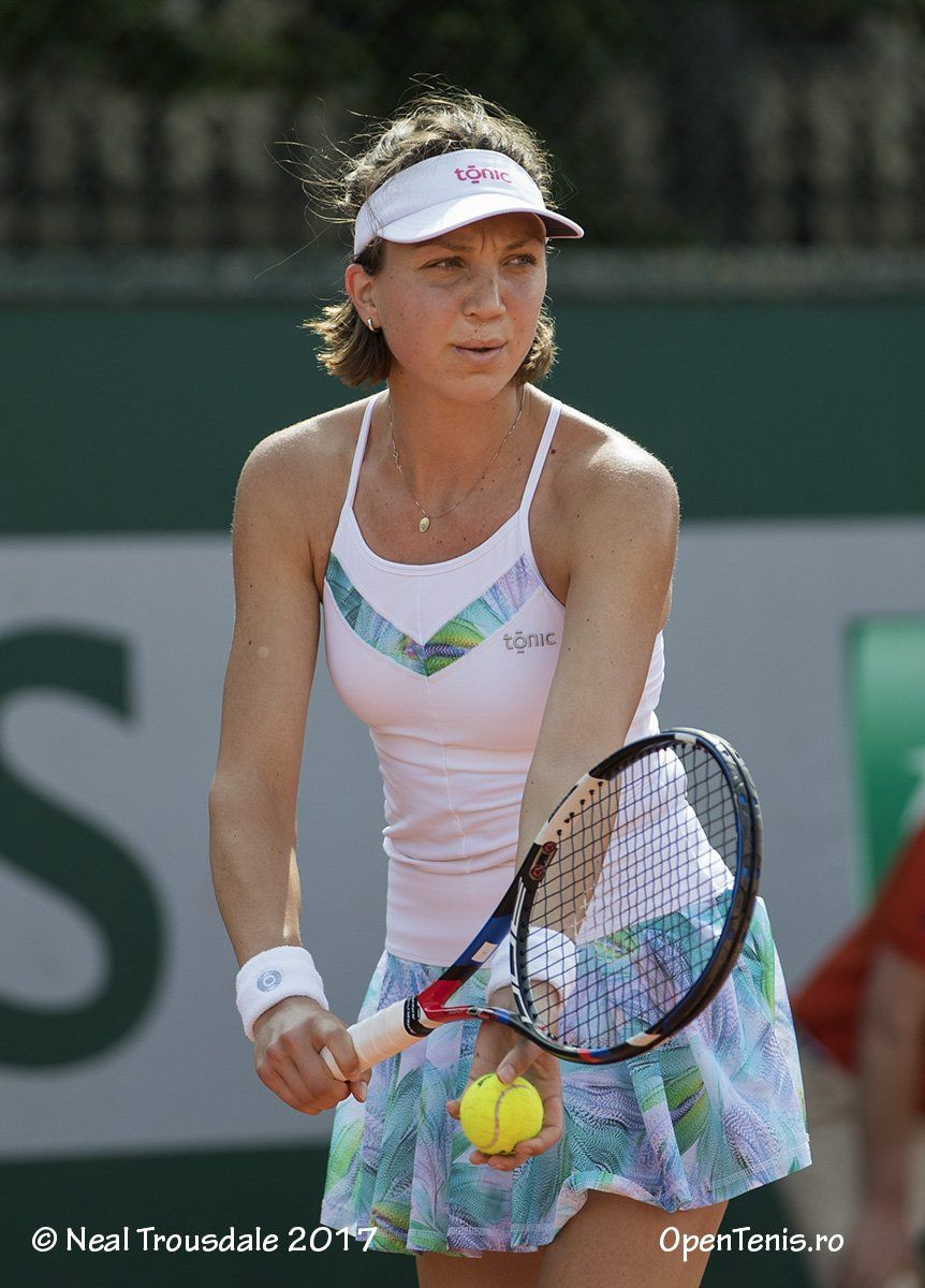 Patricia Maria Tig At Roland Garros French Open 2017 Wearing Tonic Active Ss17 Collection Tennis Wimbledon Tennis Clothes