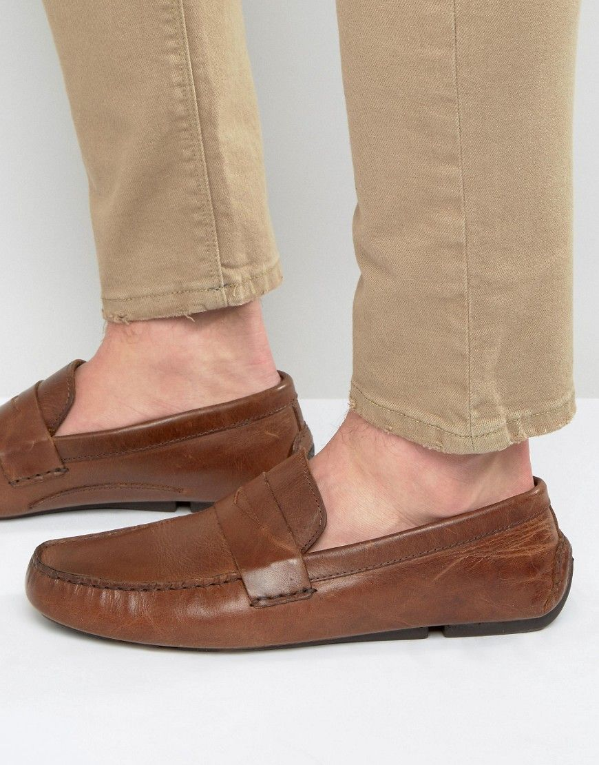 Red Tape Penny Loafer In Tan Leather