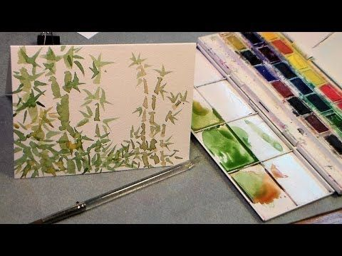 Easy Tutorial Paint Bamboo In Watercolor Watercolour Tutorials