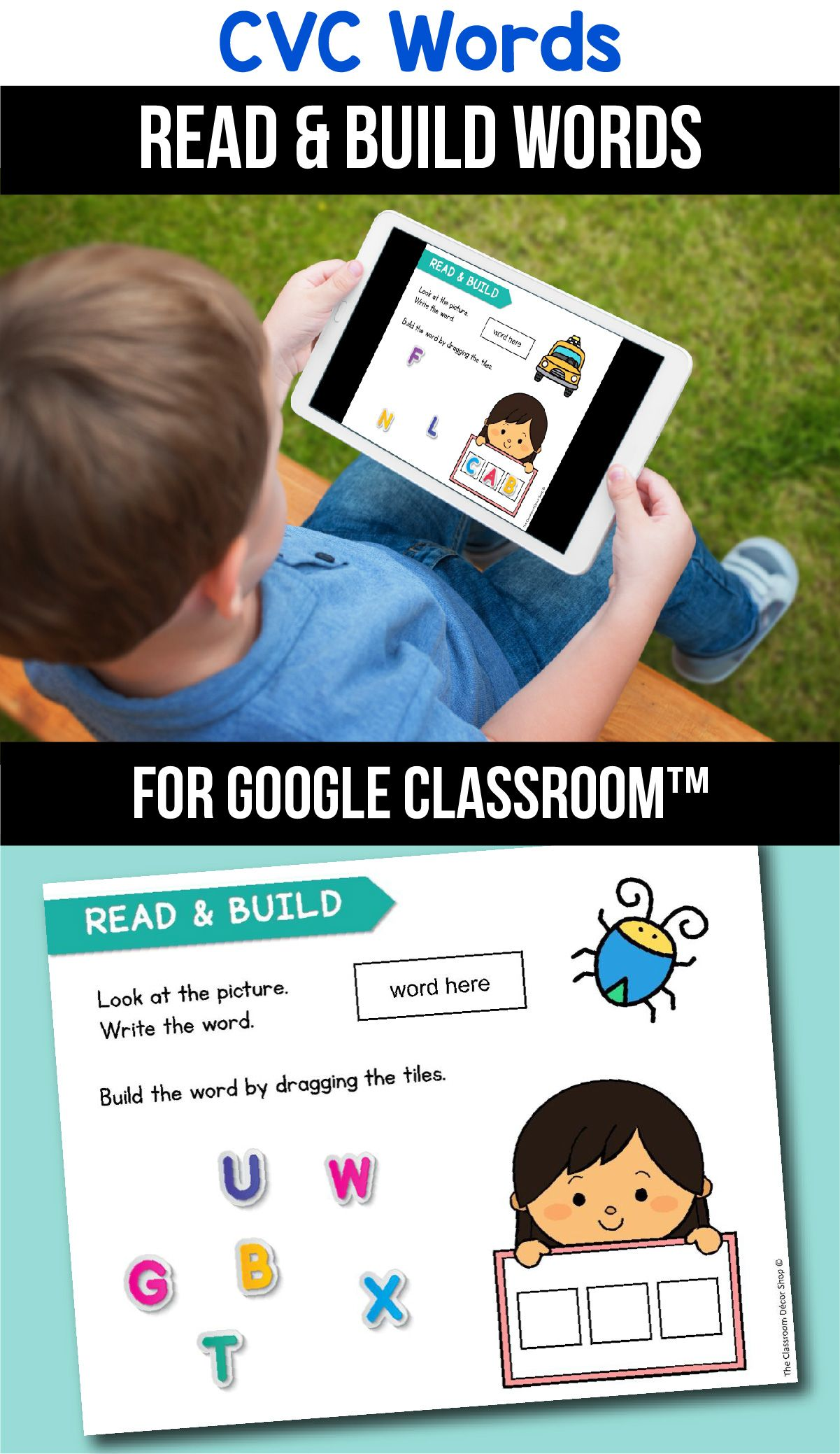 Classroom Distance Learning Cvc Word Worksheets