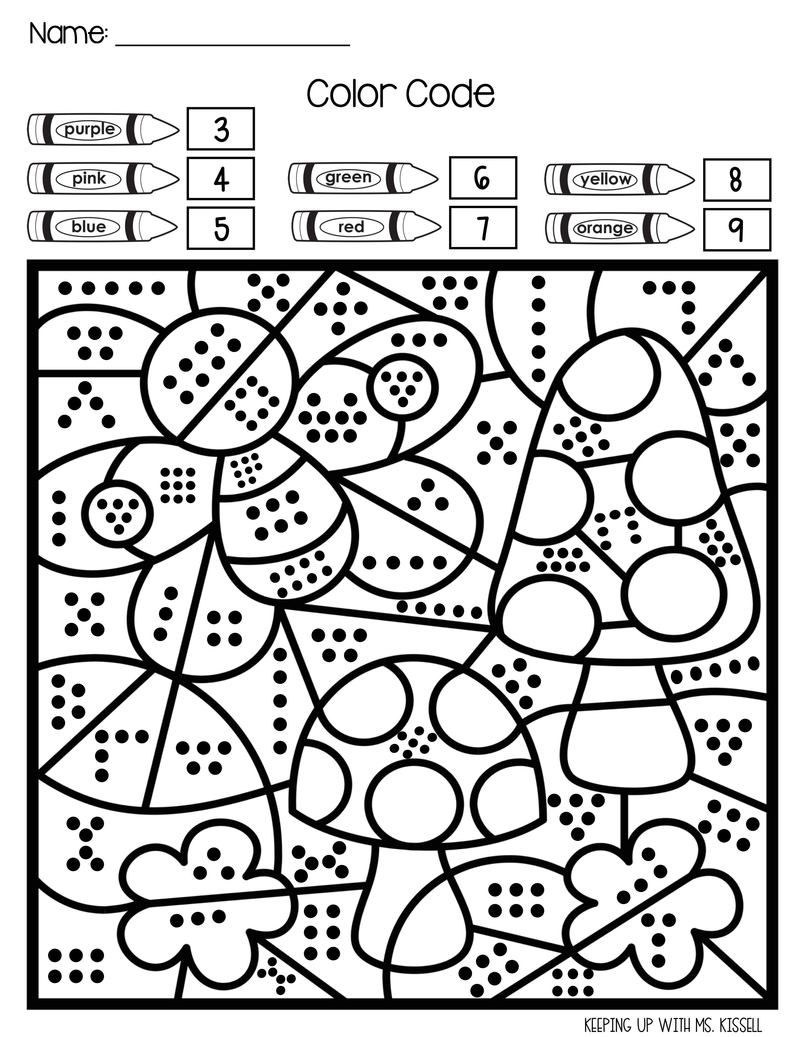 Spring Subitizing Color By Number Subitizing Spring Subitizing Math Center