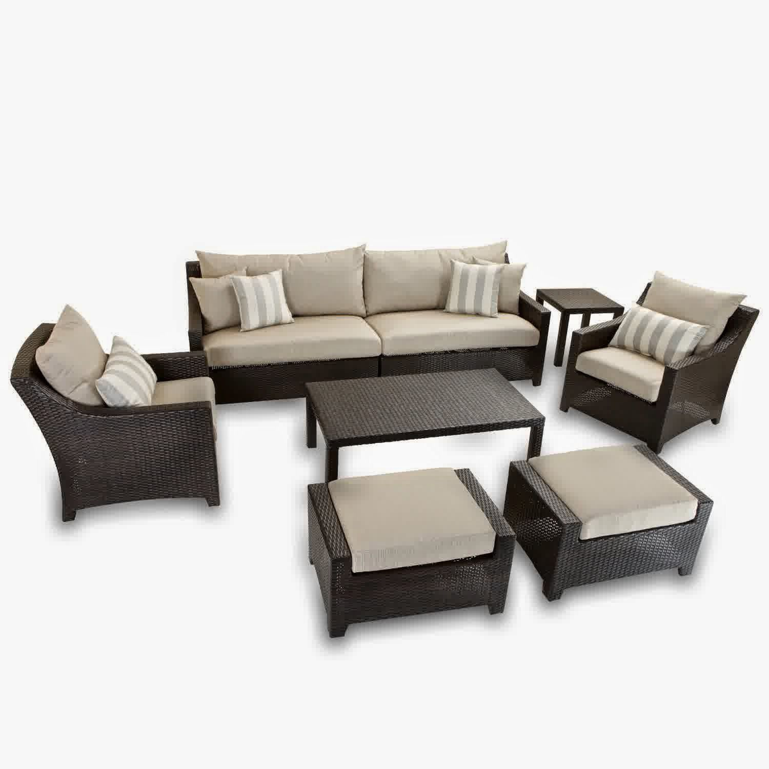 RST Outdoor OP PESS7 SLT K Slate 8 Piece Sofa Club Chair and
