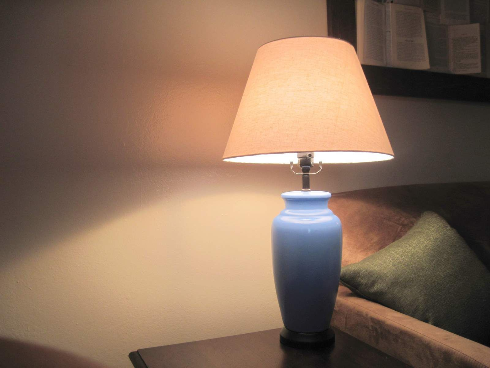 Wonderful Re Paint Ceramic Lamp With Spray Paint  NO DRIP Method. Living Room ... Nice Ideas