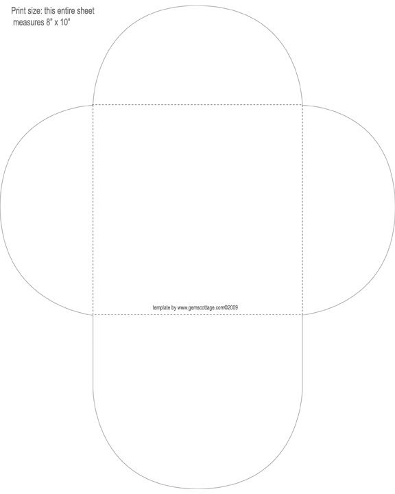 Template  Square Envelope   Envelope Templates