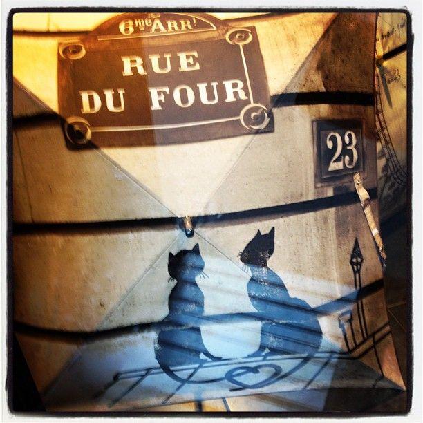 Rue du four #paris #stGermain #75006 #cat - @les3marchesdecatherineb- #webstagram