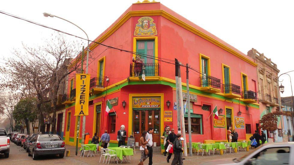 Fotos De Pueblo En Calle Caminito - Buenos Aires