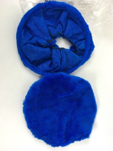 Vintage Toilet Seat Cover Shag Fur Royal Blue 60s 70s Mid