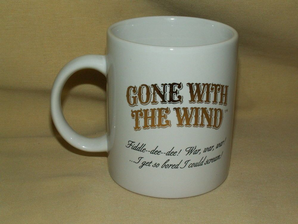 GONE WITH THE WIND MUG 1995 SCENE 2 MIRAGE HOT LIQUID OPENS CURTAINS 3RD SERIES