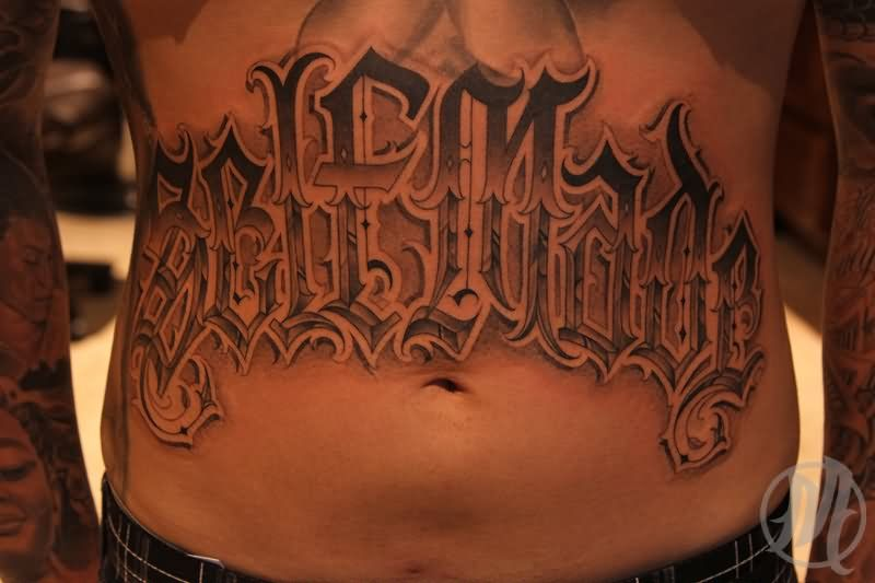 32 Stomach Letters Tattoo Tattoo Lettering Tattoos Stomach Tattoos