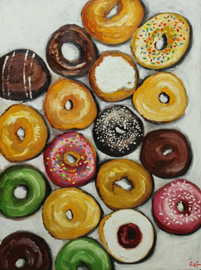 Donuts still life painting
