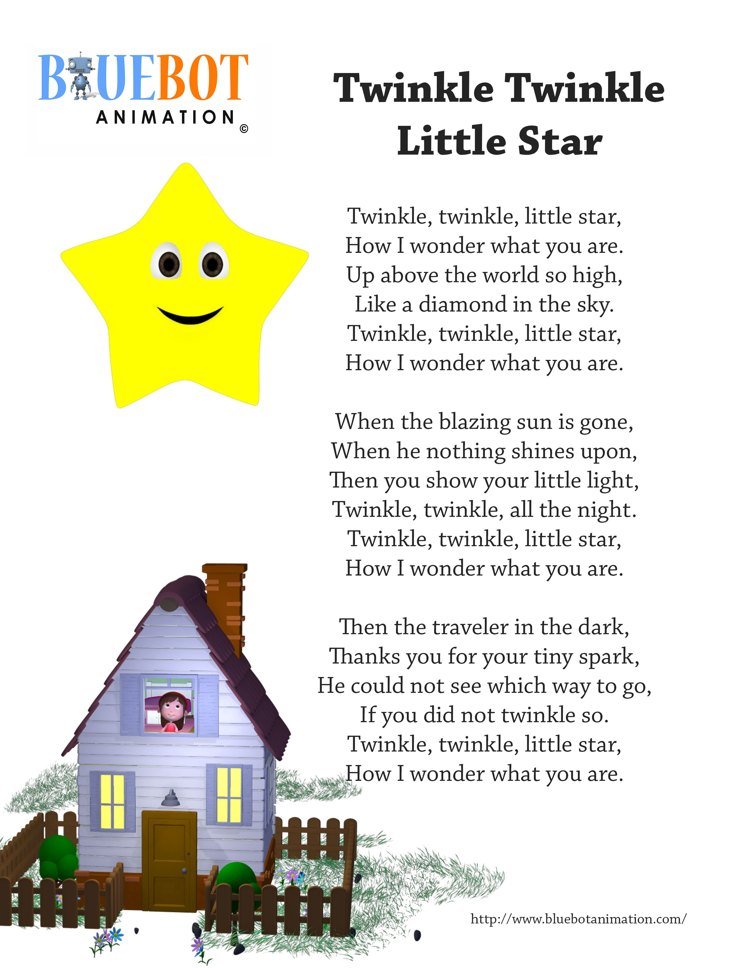 Twinkle twinkle little star nursery rhyme lyrics free for Best old school house songs