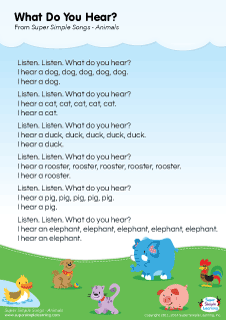 animal songs for preschool lyrics poster for what do you hear animal song from 95968