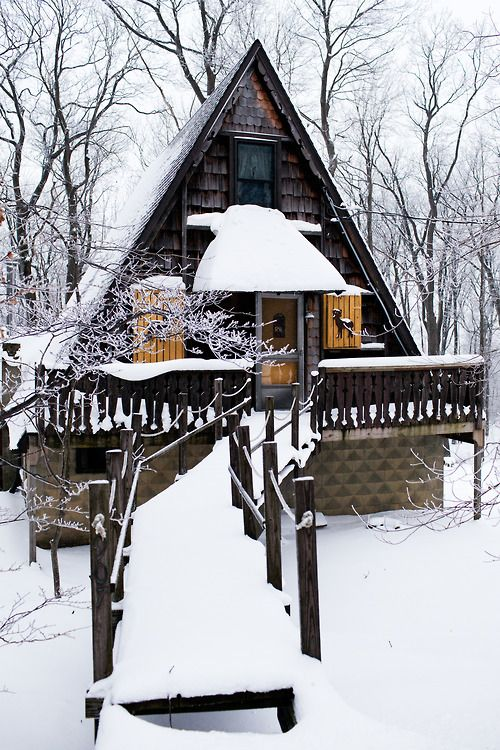 millercody:    A-Frame in the Laurel Mountains,  Pennsylvania