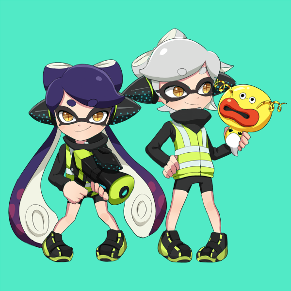 Agents 1 and 2 (AKA the Squid Sisters) from Splatoon (this looks