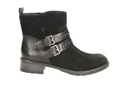 Womens Boots Clarks Swansea Grove Black Suede