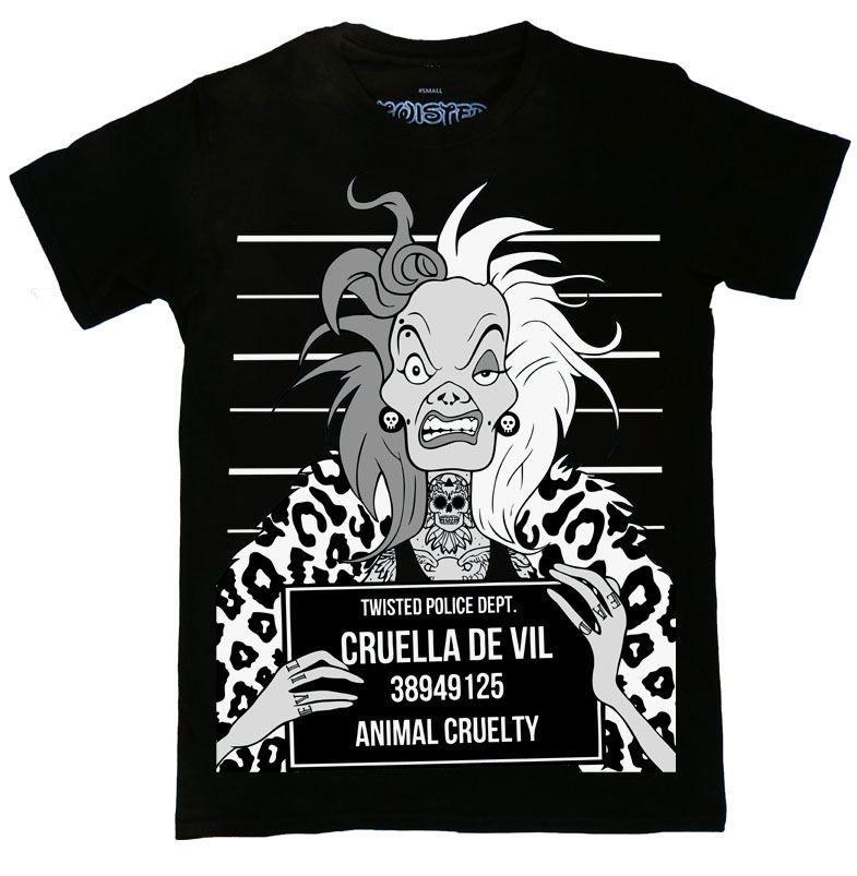 Arielle die Meerjungfrau Tattoo Damen Top S-XL Twisted Police Mugshot