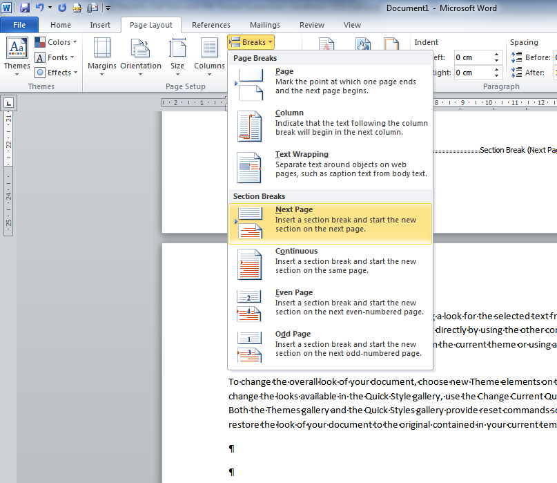 Directions To Make A Page Landscape In A Word Document That Is Portrait Words Microsoft Word 2010 Page Layout