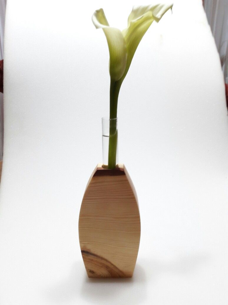 Werkstatt, Basteln, Holz Vase, Holz Ideen, Reagenzgläser, Holzdesign,  Blumenvasen, Sweetie Belle