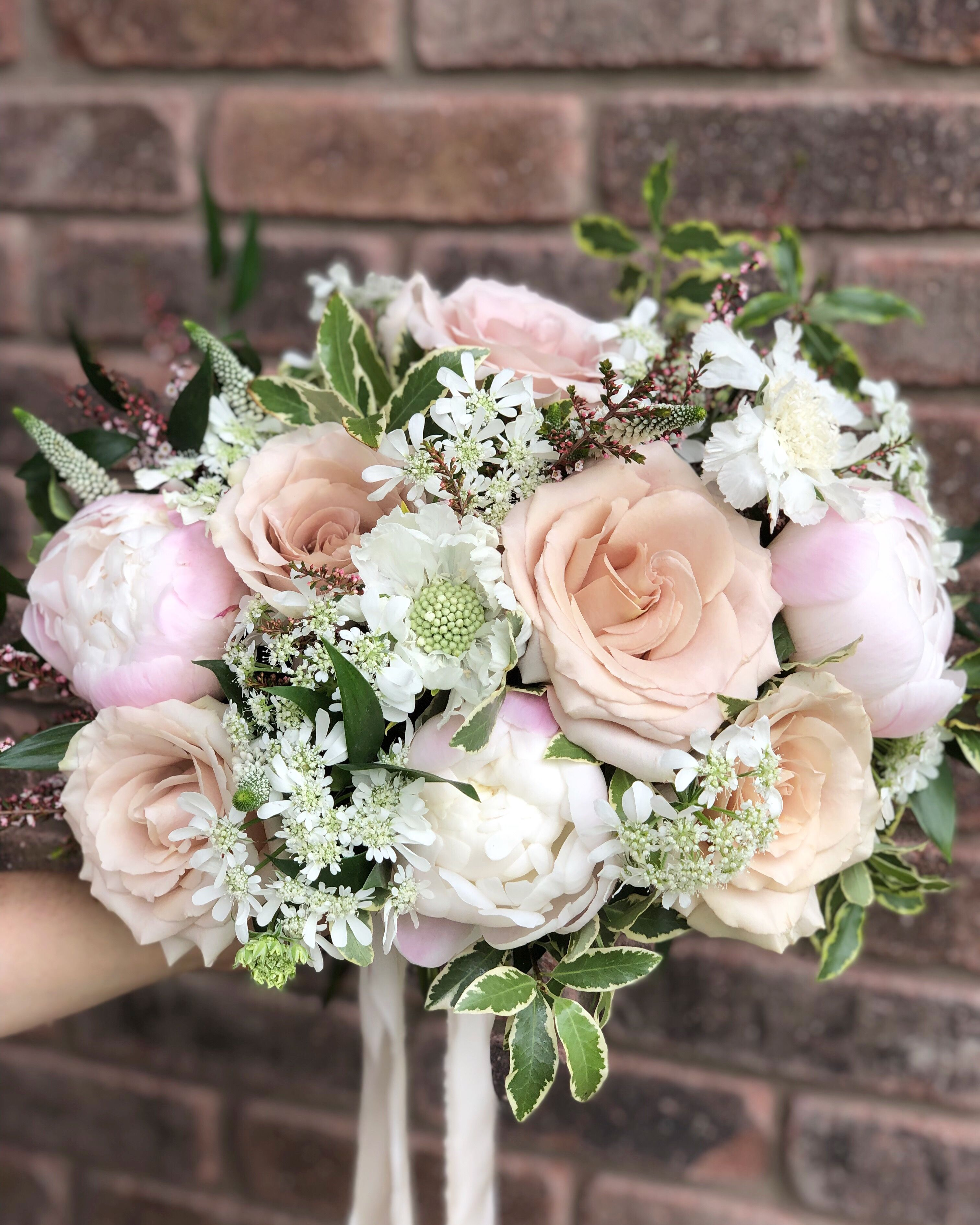 Blush Bridal Bouquet With Peonies Bridal Bouquet Blush Bridal Bouquet Wedding Flowers
