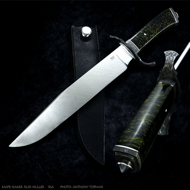Knife by South African knife maker Rudi Muller. | Custom Handmade ...