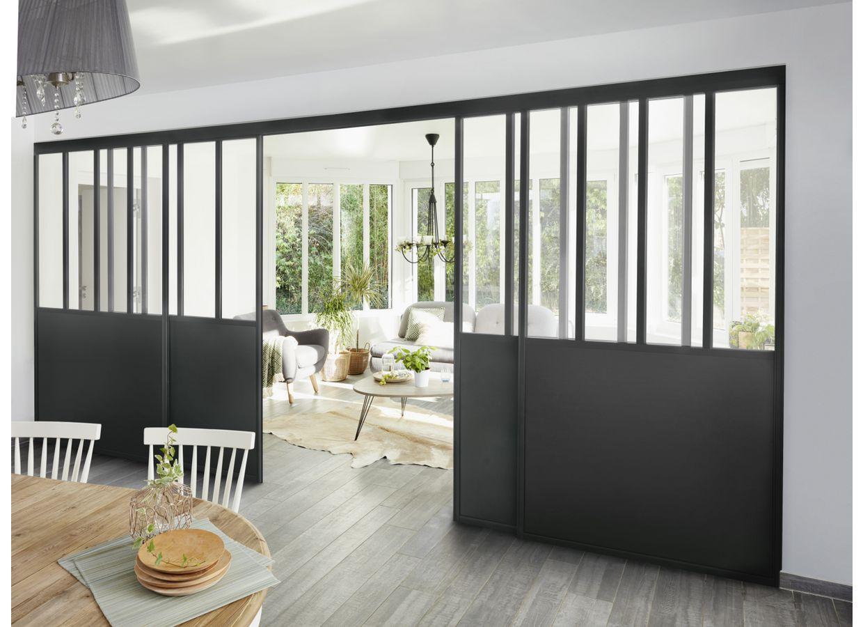 Gamme Parenthese Verriere Sur Mesure Portes Living Room Decor Apartment Cloison Suspendue Cloison Coulissante