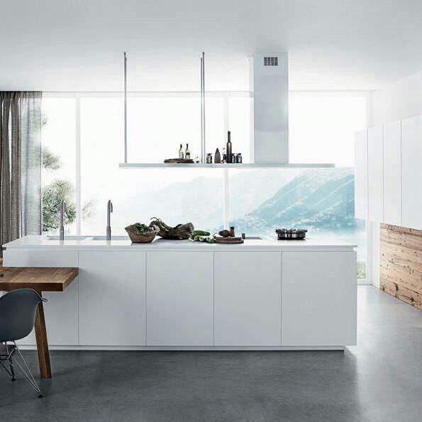 White mat kitchen island by Linea Quattro | Keuken | Pinterest | Cucine