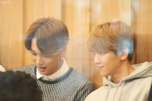 Kai, Baekhyun - 150413 SBS-R Power FM Jeong Chan Woo and Kim Tae Gyun's CulTwo Show Credit: Reflection. (SBS-R 파워FM 정찬우, 김태균의 두시탈출 컬투쇼)