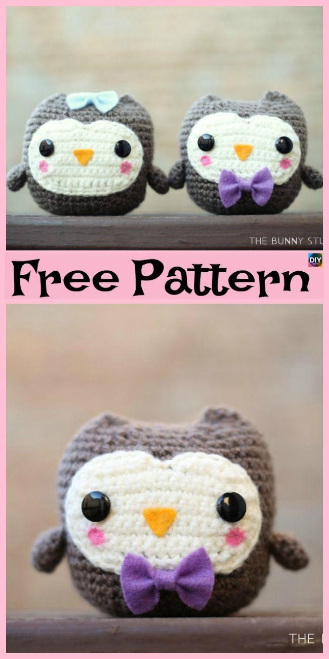 Free crochet owl amigurumi pattern - Amigurumi Today | 1300x650