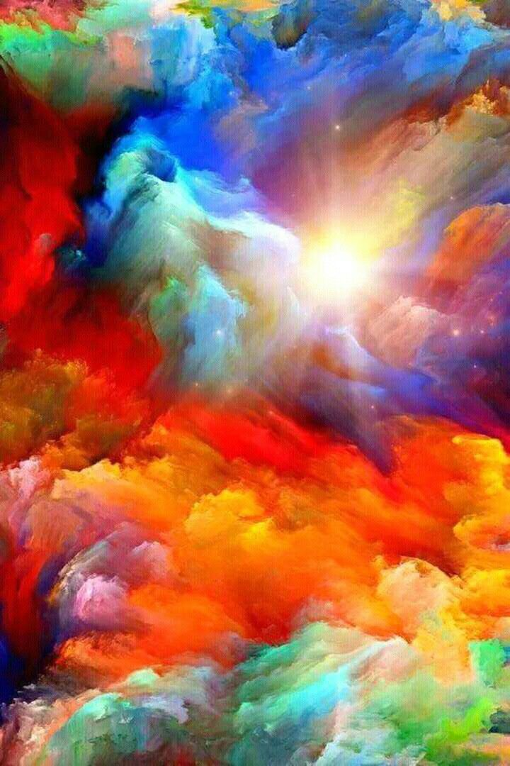 Pin By Ha Dang On Color Colorful Abstract Art Rainbow Art Rainbow Painting