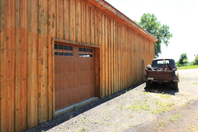 Garage Doors To Look Like Barn Doors Matches This Wood Barn Perfect