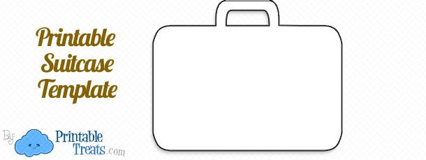 Printable Suitcase Template Template Printable Templates