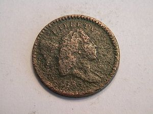 US COIN: 1790's FLOWING HAIR LIBERTY CAP HALF CENT lettered edge