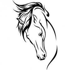 schema pendentif en perle de rocaille | Horse tattoo, Horse drawings, Horse silhouette
