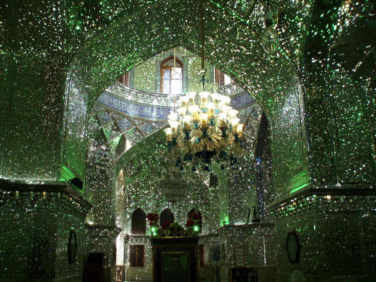 Interior of the Shah Cheragh Mosque - Shiraz, Iran